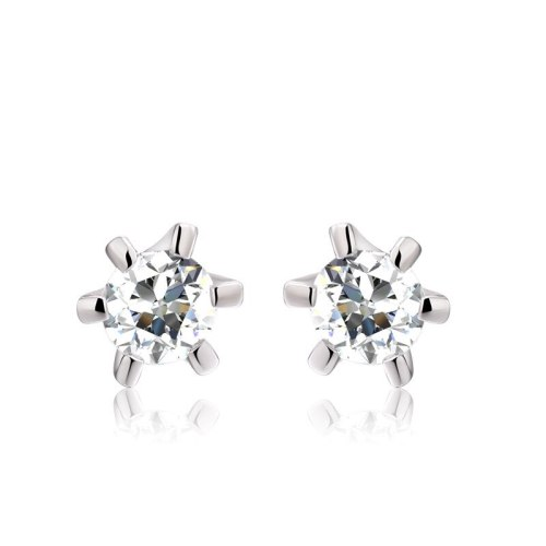 Stud Earring Jewelry Women's Simple Fashion AAA Zircon Ear Stud Birthday Gift for Girlfriends Friends 085336