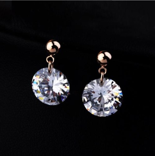 New Style Earrings Fashion Simple Temperament Ear Stud Ear Stud Exquisite Shiny Zircon Earrings Korean Style Hot Ornament 123200