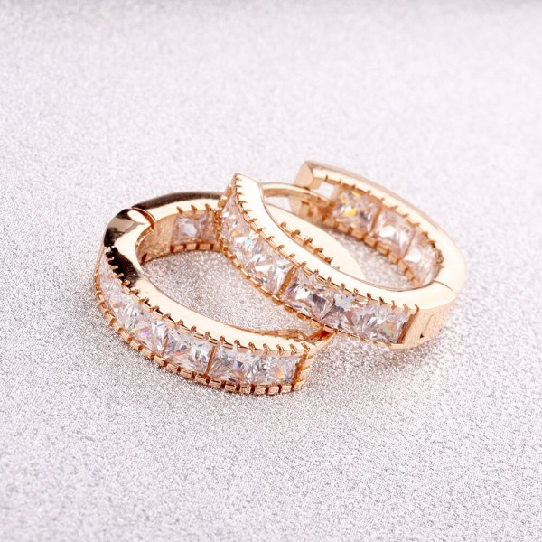 New Korean-Style Popular Zircon-Inlaid Cool Ear Clip Earrings Exquisite Fashion Jewelry Wholesale 0877970736