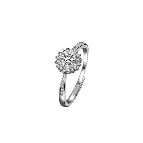 S925 Sterling Silver Ring Women's Proposal Diamond Ring Fashion Korean-Style Diamond Set Open Ring Wholesale Mlk661
