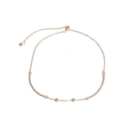 S925 Sterling Silver Bean Bead Bracelet Women's Retractable Elastic Creative Fashion Design Korean-Style Silver Jewelry L437