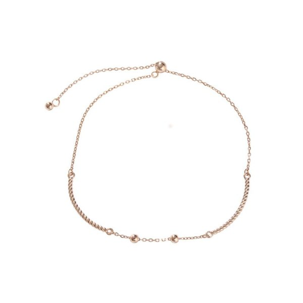 S925 Sterling Silver Bean Bead Bracelet Women's Retractable Elastic Creative Fashion Design Korean-Style Silver Jewelry L437