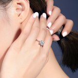 S925 Sterling Silver Ring Women's Ring Korean-Style Vintage Diamond Set Open Ring Small Jewelry Mlk668