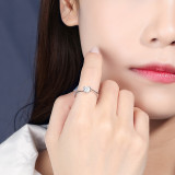 S925 Sterling Silver Ring 2020 Japan and South Korea New Four Claw Micro Pave Zircon Ring Jewelry  Mlk832
