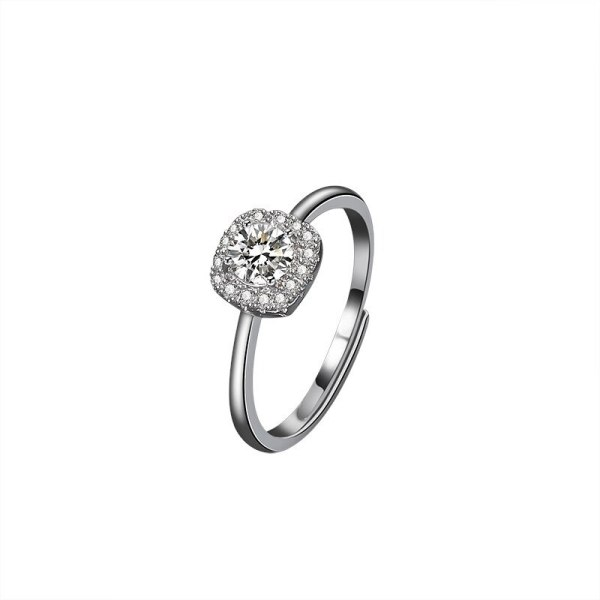 S925 Sterling Silver Ring Women's Proposal Ring Fashion Korean Diamond Set Women's Ring Silver Wholesale Mlk657