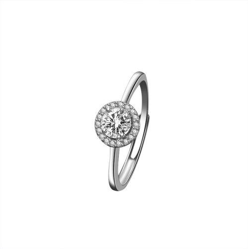 S925 Sterling Silver Ring Women's Proposal Ring Fashion Korean-Style Diamond Ring Silver Mlk663