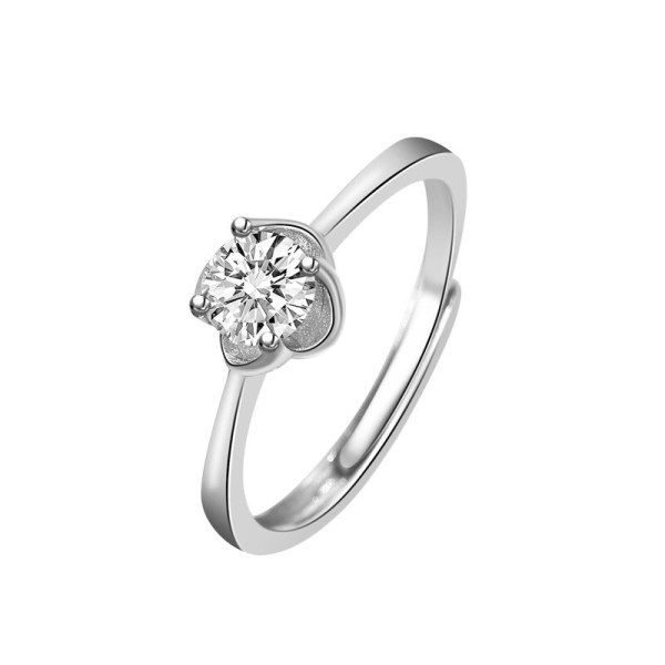 S925 Sterling Silver Ring South Korea New Fashion Micro Pave Zircon Ring Female Accessories Wholesale Mlk840
