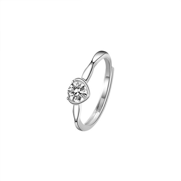 Ring S925 Sterling Silver South Korea New Lovely Fashion Zircon Ring Female Silver Wholesale Mlk798