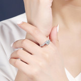 S925 Sterling Silver Moissanite Carat Ring for Women Ins Korean Version of the Ornament Open Port Diamond Ring Wholesale MlK676