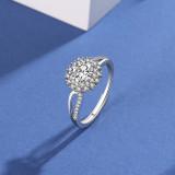 S925 Sterling Silver Moissanite Carat Ring Female Fashion Korean-Style Proposal Moissanite Ring Mlk667