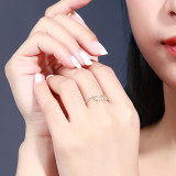 S925 Sterling Silver Japanese and Korean New Zircon Ring Female Fashion Trend Micro Pave Silver Wholesale Mlk703