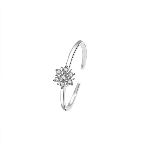 S925 Sterling Silver Daisy Ring Female Net Red Ins Korean Hipster Open Chrysanthemum Ring Wholesale Mlk682