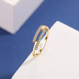 S925 Sterling Silver Micro Pave Zircon Ring Female Fashion Japanese and Korean Retro Simple Women's Ring Mlk690