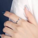 S925 Sterling Silver Ring South Korea New Style Micro Pave Zircon Ring Female Fashion Small Jewelry Mlk838