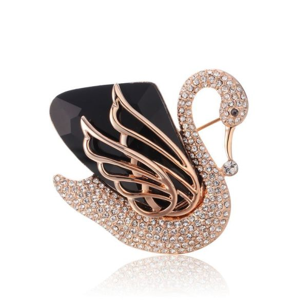 Fashion Accessories Women's Day Korean Series Cool All-match Black Swan Brooch Gift to Give Mom to Send Girlfriends 553503