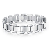 New Stainless Steel Bracelet Fashion Simple Korean Hand Ornament Wholesale Titanium Steel Men's Bracelet Gb1043