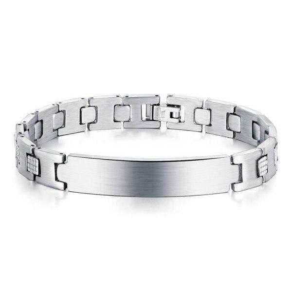 2020 New European and American Ornament Stainless Steel Adjustable Bracelet Men's Titanium Steel Bracelet Gb1045