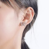 925 Sterling Silver 2020 New Style Butterfly Zircon Earrings South Korea Popular Women Ear Stud Earrings Wholesale Mle2142