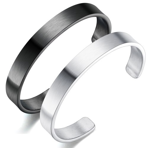 Bracele Fashion Elegant Smooth Open Bracelet Student Korean Style Simple Fashion Men's Stainless Steel Bracelet Bangle Gb966