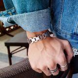 New Stainless Steel Bracelet Fashion Simple Korean Hand Ornament Wholesale Titanium Steel Men's Bracelet Gb1043