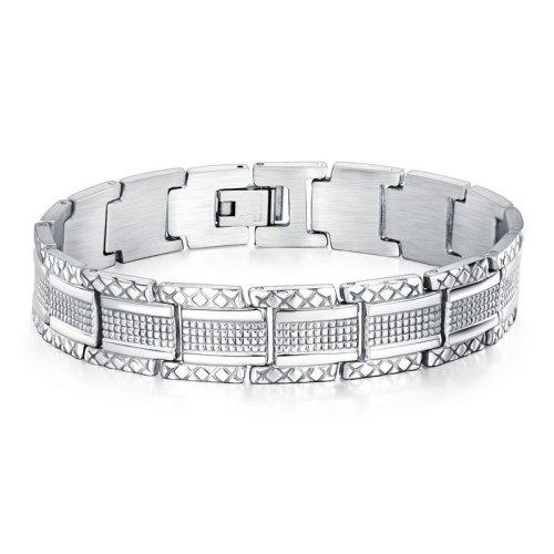 Korean Style Metal Bracelet Fashion Rock Adjustable Stainless Steel Bracelet Titanium Steel Men's Bracelet Gb1044