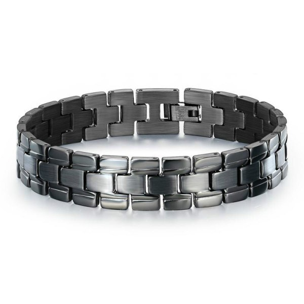 New Stainless Steel Bracelet Wholesale Electroplated Black Titanium Steel Watch Chain Men's Titanium Steel Bracelet Gb1048