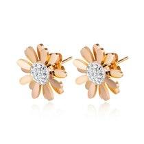 Japanese and Korean Daisy Flower Earrings Female Temperament Hipster Women Girls Cool Simple Student Ear Stud Earing Gb580