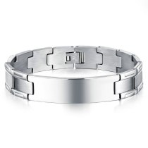Bracelet Jewelry Wholesale Simple Fashion Smooth Stylish Guy's Stainless Steel Hand Jewelry Men's Titanium Steel Bracelet Gb1047
