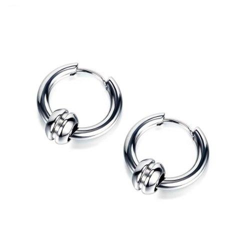 Korean Style Street Racket Men's Titanium Steel Circle Earrings Stud Earring Wholesale Gb602