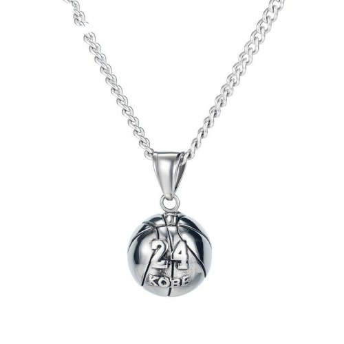 Stainless Steel Necklace New Street Fashion Men's Titanium Steel No. 24 Basketball Pendant Necklace Gb1693