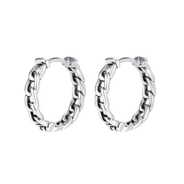 European and American Men's Titanium Steel Earrings Korean Fashion Stainless Steel Cool Assertive Stud Earring Gb599