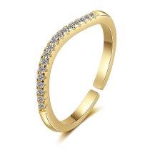 Women's Korean-Style Fashion Diamond Ring with Adjustable Opening Ring Xzjz331
