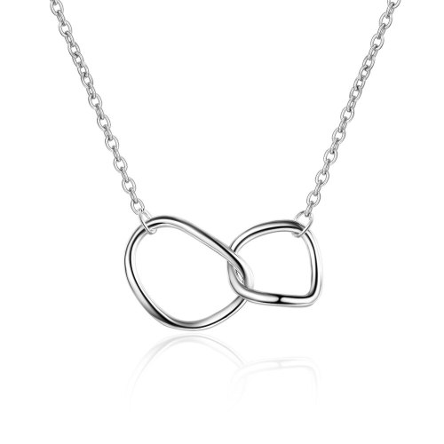 Irregular Circle Necklace Double Ring Buckle Clavicle Chain Simple Jewelry  Female Xzdz513