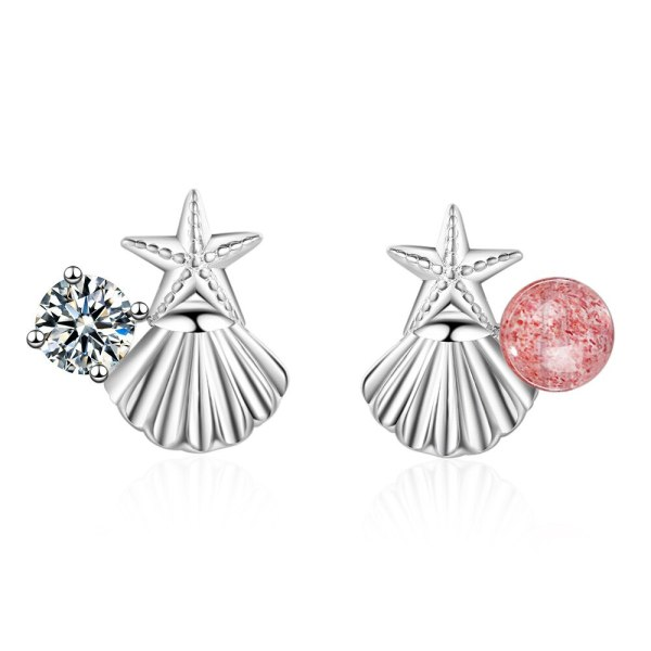 Shell Starfish Stud Earring Female Simple Student All-match Fresh Strawberry Earring Small and Exquisite Girl Jewelry Xzed886