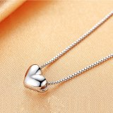 Korean-Style Simple Heart-Shaped Pendant Alloy High Quality Necklace 75022