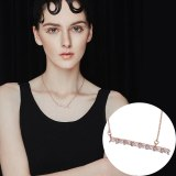 Fashion Jewelry Women's Simple All-match AAA Zircon Clavicle Necklace Shirt Sweater All-match 201079