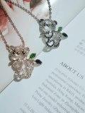 Cute Girl Ornament Diamond Set Panda Pendant Necklace Exquisite Necklace Wholesale 61522