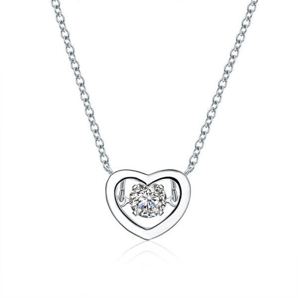 Korean Fashion All-match Single Diamond Zircon Necklace Simple Pendant Clavicle Chain Wholesale 62132