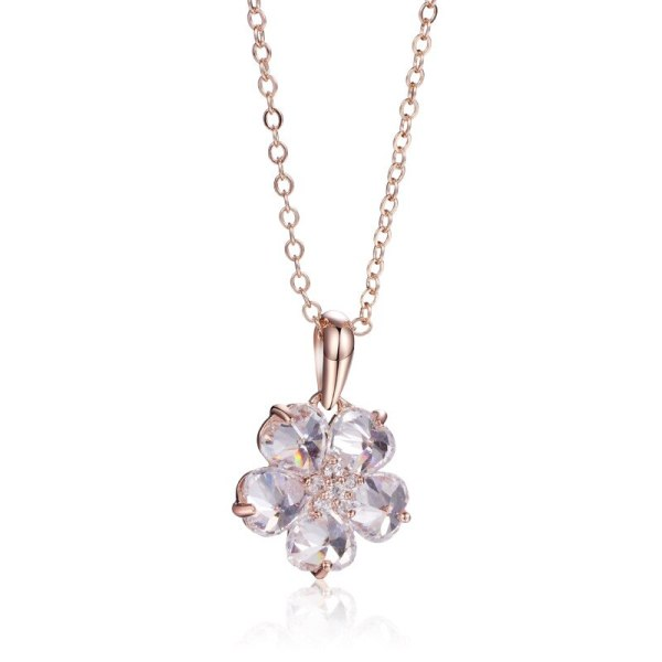 Fashion Jewelry Women's Simple Cool AAA Zircon Clavicle Necklace 134972