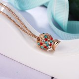 Necklace Jewelry Women's Fashion Korean-Style Cool Crystal Small Goldfish Necklace Summer 400430