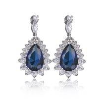 Drop Earrings Copper Inlaid AAA Zircon Crystal Stud Earring Korean Fashion Fine Earring Jewelry Qxwe757