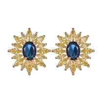 Fashion Atmosphere AAA Zircon Inlaid  Stud earring  18K Gold Earrings jewelry Qxwe1044