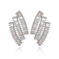 Korean-Style Creative Stud Earring Copper Inlaid AAA Zircon Earring S925 Sterling Silver Ear Pin Jewelry Qxwe926