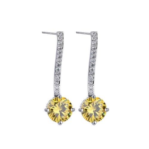 Creative New Ear Stud AAA Zircon Inlaid Long Earrings Sterling Silver Pin Fashion Jewelry Qxwe919