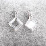Crystal Zircon Earrings Double-Sided Zircon Stud Earrings Korean Fashion Earrings Jewelry Qxwe466