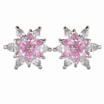 Flowers Shiny KoreanStud Earring AAA Grade Horse Eye Zircon Mix and Match Inlaid Earring Simple Temperament Earring Qxwe910