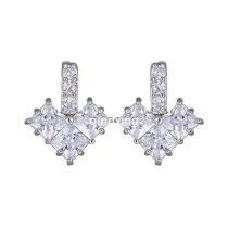 AAA Zircon Inlaid Stud Earring Copper Inlaid Jewelry Wholesale Korean Simple and Versatile Stud Earring Lovely Earring Qxwe909