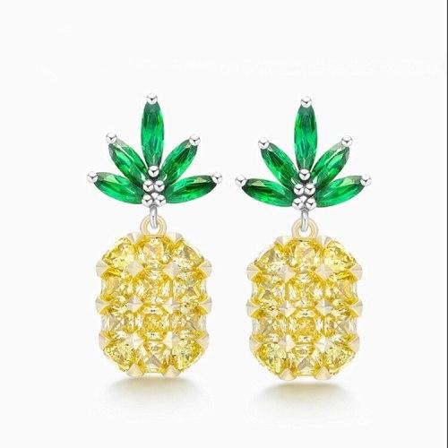 S925 Sterling Silver Stud Earring  New Style Ear Stud Tropical Earrings Sweet Ear Pendant Hot Selling Women's Earring Qxwe979