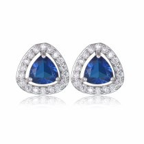 Triangle Stud Earring AAA Zircon Earrings 925 Sterling Silver Pin Environmentally Friendly Copper Inlaid Earring Qxwe703