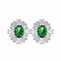 Flower Stud Earrings Copper Inlaid AAA Crystal Zircon Stud Earrings Fashion Jewelry Earrings Accessories Qxwe952